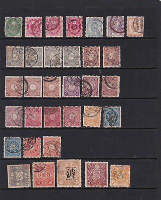 Japan - Selection of Early Definitive Stamps  (Ja0602 3)