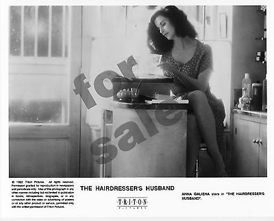 The Hairdresser's Husband Movie Still B&W Photo Jean Rochefort Anna Galiena