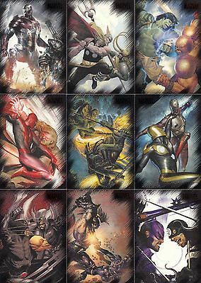 Marvel Heroes & Villains 2010 Rittenhouse Archives Complete Base Card Set Of 81