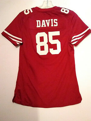 NIKE ON FIELD VERNON DAVIS San Francisco 49ers Forty Niners Jersey ... 9275df0dc