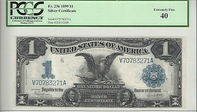 "Fr. 236 $1 ""Black Eagle"" Silver Certificate, Series of 1899, Certified PCGS 40"