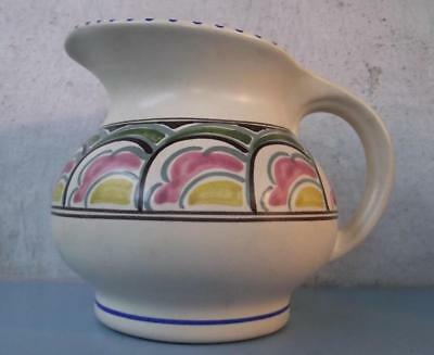 Good Art Deco Honiton Pottery Jug Brightly Enamelled 1950s English