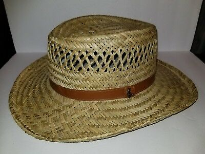 b3e8d1107b7 NEW DORFMAN PACIFIC Men s Rush Straw Lightweight Outback Hat with ...