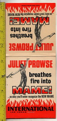 1969 jumbo feature matches juliet breathes fire into mame! international hotel