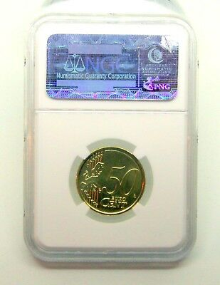 """2012R """"Pope Benedict XVI""""  Fifty Cent Coin / Graded NGC"""