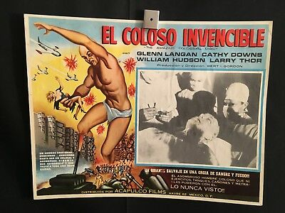 The Amazing Colossal Man 1957 Mexican Lobby Card Movie Poster Horror G Langan