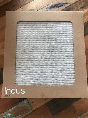 Indus Ribbed Baby Blanket Brand New In Box Baby Blue/Stone