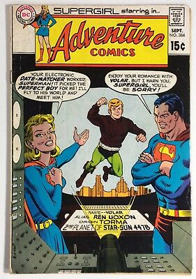 Adventure Comics #384, VG+, 1969, Supergirl, Superman's Electronic Date-Matcher!