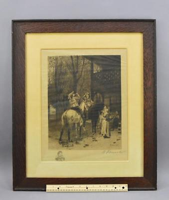 Antique Etching After Ernest Meissonier By A Fauna 1876 No Reserve