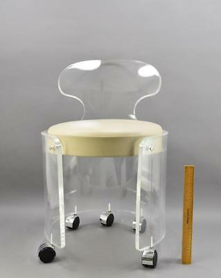 Mid-Century Lucite Barrel Chair By Hills No Reserve