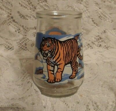 Welch's Jelly Glass Endangered Species Siberian Tiger      (#081)