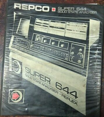 Repco Super 644 Solid State Analyser operator/owners manual by Replex