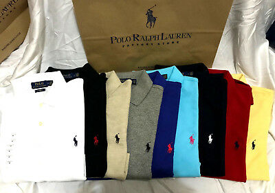 NEW Ralph Lauren Men Polo Shirt / T-SHIRT Short LONG Sleeve CUSTOM FIT