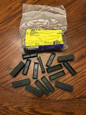 BRAND NEW in BAG SquareD  NQFP15 - NQ Filler Blanks for QO QOB