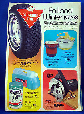 Vintage Canadian Tire Catalogue Fall Winter 1977/8 Annual Guide - Catalog