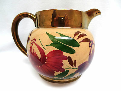 Vintage 1950's WADE POTTERY England Mums Copper Luster Milk Pitcher