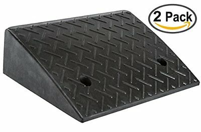 """5.2"""" Heavy Duty Rubber Curb Ramp2 Pack"""