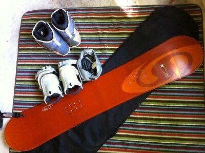 snow board complete with boots, binders