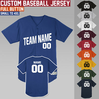 Custom Baseball Jersey **** Full Button **** Softball **** Uniform **** S to 4XL