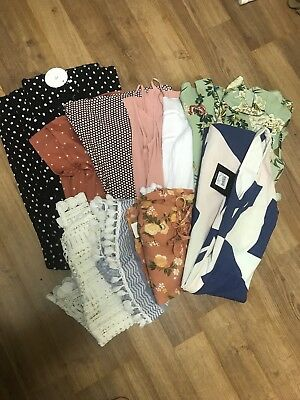Bulk Lot Women's Brand Name Dresses And Tops Size 8 (some NWT)