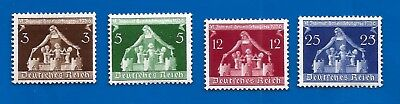WW2 Nazi Germany Third Reich 1936 International City Congress stamp set pair MLH
