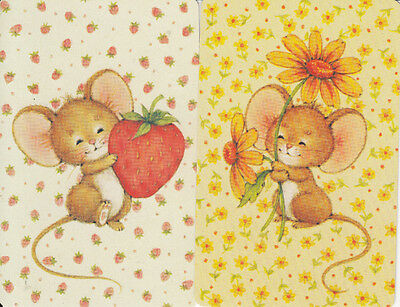 Vintage Swap/Playing Cards - 2 SINGLE- CUTE LITTLE MICE