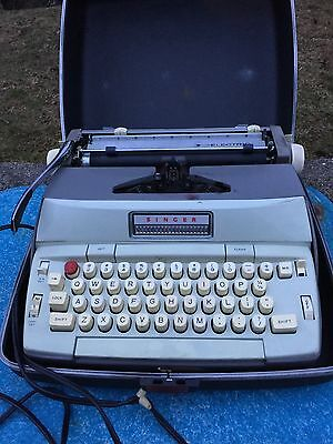 Singer Electric Typewriter With Case And Instructions Used