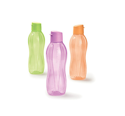 Tupperware 500ml ECO DRINK BOTTLE FLIP TOP PICK YOUR COLOUR 1x 2x OR 3x