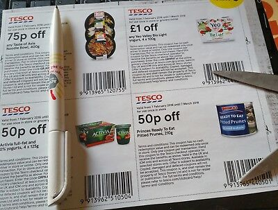 There are 20 genuine, money off coupons/vouchers worth £13.75