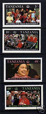Tanzania 1987 Queens's 60th Birthday SG517/20 MNH