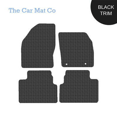 Ford Kuga 2008-2012 Fully Tailored Black Rubber Car Mats With Black Binding