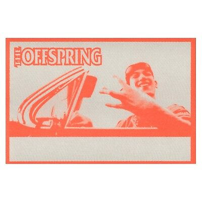 The Offspring authentic 1998 Americana Tour satin Backstage Pass crew orange