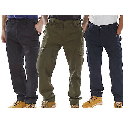 Click Polycotton Combat Army Military Mens Trousers Pants Black Olive Green Navy