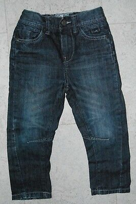 TU Boys Dark Blue Denim Elasticated Waist Jeans 4 years