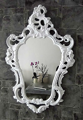 Wall Mirror Red Silver 64x54 Antique Baroque Repro Shabby Ornaments