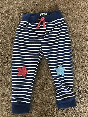 Mini Baby Boden Stripe Star Joggers Tracksuit Bottoms 2 -3 Years boys