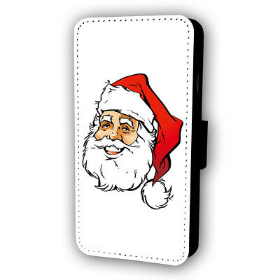 Happy Santa Claus Flip Style Phone Case With Card Holder