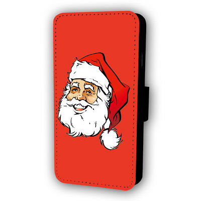 Santa Claus Flip Style Phone Case With Card Holder