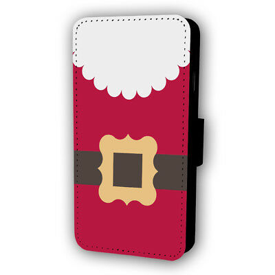 Santa Claus Suit Christmas Flip Style Phone Case With Card Holder