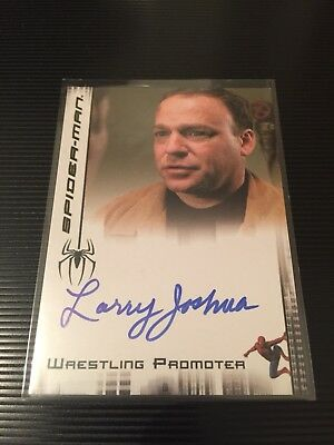 Spiderman 2007 Wrestling Promoter Larry Joshua Autograph Card