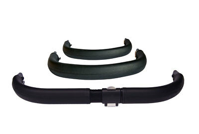 Handlebar and bumper bar cover set to fit Bugaboo Donkey / eco leather / black