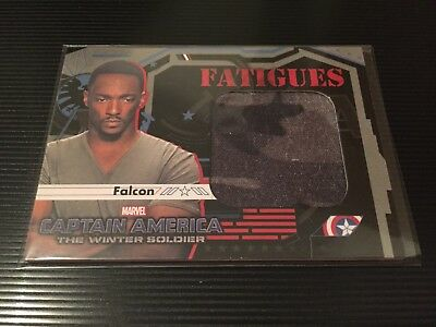 Captain America Winter Soldier 2014 Fatigues Falcon Memorabilia Card F-9