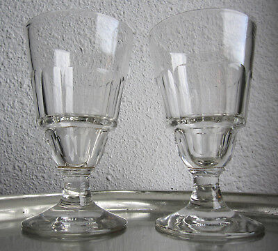 Anciens Verres Bistrot Absinthe A Reservoir Souffle Taille Portieux Pontarlier