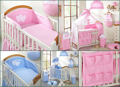 Huge 14pcs BABY BEDDING SET TO FIT BABY COT or COT BED LAMP COT TIDY SHEET etc.