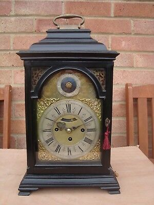 Antique Three Train Verge Bracket Clock
