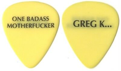The Offspring Greg K authentic 2000 tour One Bad Ass Motherf*cker Guitar Pick