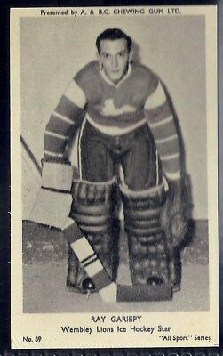 A&bc-All Sports (M120)-#039- Ice Hockey - Wembley Lions - Ray Gariepy
