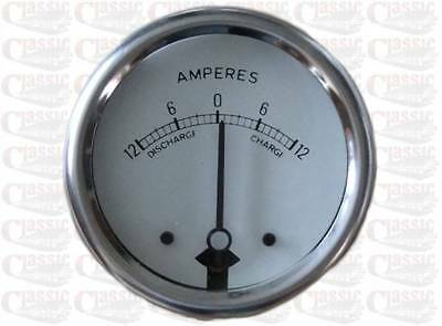 12V White dial ammeter 2'' Diameter Ideal For Classic/ Vintage Motorcycle