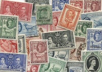 25 different Somaliland stamps, mix of mint & used - Freepost