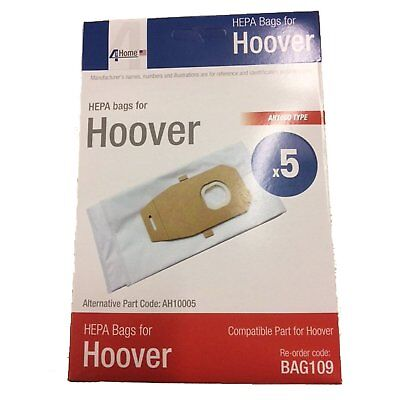Hoover Platinum Type Q High HEPA Vacuum Bags 5pk Replaces Part AH10000 UH30010